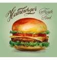 hamburger burger logo design template vector image vector image