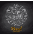 Hand drawn with bread Sketch vector image vector image