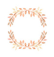 hand painted pastel watercolor wreath plant vector image vector image