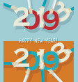 happy new year 2019 creative greeting card design vector image vector image