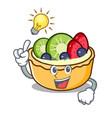 have an idea fruit tart mascot cartoon vector image