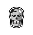 head halloween logo icon design vector image