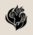 holyspirit silhouette logo vector image vector image