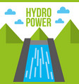 hydro power dam water energy ecology vector image vector image