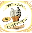 Ice Cream with price Popsicle on a white vector image vector image