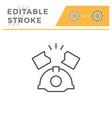 industrial accident editable stroke line icon vector image