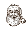 Jolly Santa Claus Sketch vector image vector image