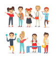 kids playing musical instruments flat vector image vector image