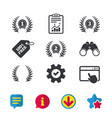 laurel wreath award icons prize for winner vector image vector image