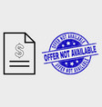 line price list page icon and scratched vector image vector image