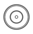 long play retro music icon vector image vector image