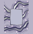luxury blue and silver marbling template vector image vector image