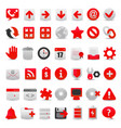 modern red web icon set vector image vector image