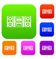 music center set collection vector image vector image