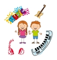 musical instrument vector image vector image