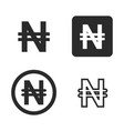 naira currency symbol set vector image vector image