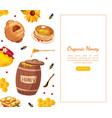 organic honey landing template natural honey vector image vector image