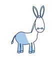 outlined donkey manger animal nativity vector image vector image