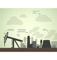 pollution and factories vector image vector image