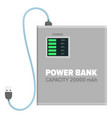 power bank for charging isolated vector image vector image