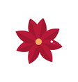 red flower decoration ornament icon vector image