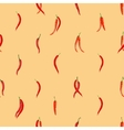 Red hot chili peppers pattern vector image vector image