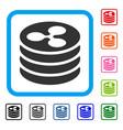 ripple coin column framed icon vector image