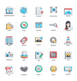 rocket launch flat icons pack