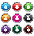 round apple set 9 collection vector image vector image