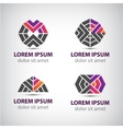 set of abstract icons logos vector image vector image