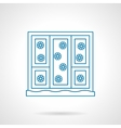 Snowfall out a window blue line icon vector image vector image