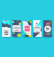 social media banner story sale coupon layout vector image