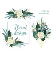 templates with flowers design for card vector image