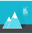The mountains with snowy peaks vector image