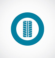 tire icon bold blue circle border vector image