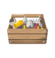 tool box with equipment to industry repair vector image