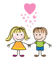 valentines boy and girl vector image vector image