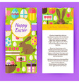 Vertical Flyer Template for Happy Easter vector image