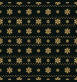 winter black background with gold snowflakes for vector image vector image