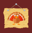 Wooden Sign with Turkey vector image vector image