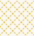 Yellow geometric seamless pattern with circles