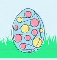 spotted easter egg 2 continuous line vector image
