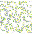 a repeating pattern of small leaves prints for vector image