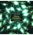 colorful green glowing christmas lights vector image
