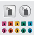 icon spray cans vector image