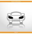 car web flat icon vector image