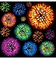 Fireworks and Explosion 3D Isolated Design Element vector image