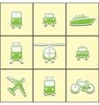 public transport vector image