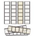 set of film strips vector image