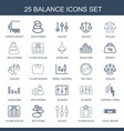 25 balance icons vector image vector image